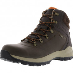 Hi-Tec barbati Altitude Alpyna Mid I Waterproof Chocolate / Burnt Orange High-Top Leather Hiking Boot, 39