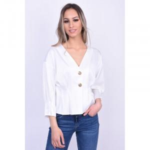 Bluza Eleganta Vero Moda Hanna Button 3/4 Alb
