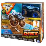 Set masinuta Monster Jam Monster Dirt Blue Thunder