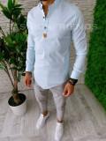 Camasa barbati eleganta cu tunica ZR A5599 W8-5, L, M, S, XL, XXL, Maneca lunga, Din imagine
