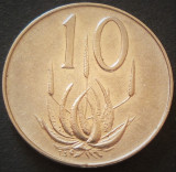 Moneda EXOTICA 10 CENTI - AFRICA DE SUD, anul 1965    *cod 4760