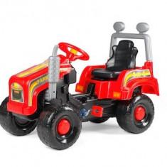 Mega tractor cu pedale, rosu