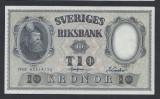A5149 Sweden Suedia 10 kronor 1958 SEMNATURI DIFERITE aUNC