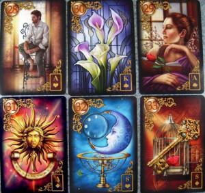 Carti tarot Gilded Lenormand + Mystical Lenormand +cadou  un set de rune