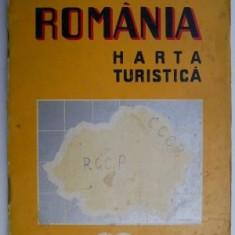 Romania. Harta turistica