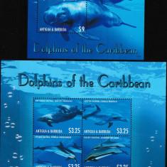 Antigua & Barbuda 2013 - FAUNA  MARINA - DELFINI - Nestampilat