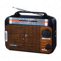 Radio portabil Leotec LT-Q3, 4 benzi, difuzor incorporat