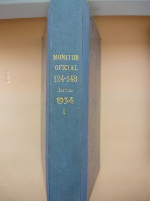 REGATUL ROMANIEI - MONITORUL OFICIAL ( partea I ) - LUNA SEPTEMBRIE 1934