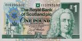 SCOTLAND █ bancnota █ 1 Pound █ 1992 █ P-356 █ European Summit Edinburgh █ UNC