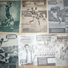 Lot 7 reviste Stadion si Sport anii '48 ,49 ,73 ,82- Succese Echipa Dinamo
