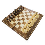 Joc de sah si table din lemn 32x32 cm
