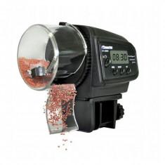 Alimentator automat pentru pesti, 4 hraniri/zi, afisaj LCD, recipient 70g, negru