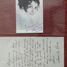 Lot fotografie cu dedicatie + scrisoare - Daniela Voicu