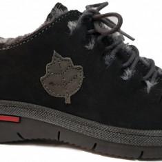 Pantofi dama casual din piele Waldlaufer 691 negru