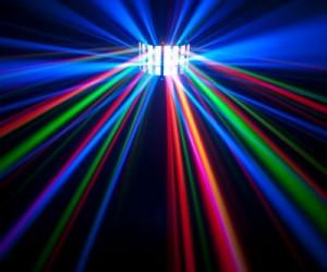 EFECT LUMINI SPECTACULOS DERBY LIGHT CU LEDURI,TELECOMANDA,,ACTIVARE LA MUZICA.