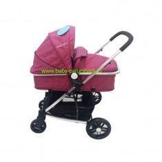 Cărucior nou născut Baby Care 2 in 1 YK 18 Fucsia