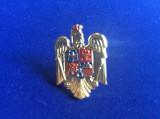 Insignă militară - Insignă România - Caschetă/Coifură - Actuală cu coroană