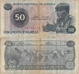 1976 ( 11 XI ) , 50 kwanzas ( P-110a ) - Angola