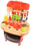 Set Bucatarie de jucarie, cu mancare, ustensile, recipiente, sunete si lumini pentru copii - LY838