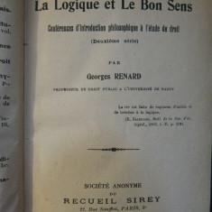 CONFERENCES D'INTRODUCTION PHILOSOPHIQUE A L'ETUDE DU DROIT-G.RENARD 3 VOL.