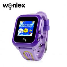 Ceas Smartwatch Pentru Copii Wonlex GW400E cu Functie Telefon, Localizare GPS, Pedometru, SOS, IP67 - Mov