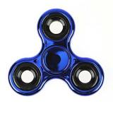 Cumpara ieftin Spinner Fidget jucarie antistres, metal, albastru