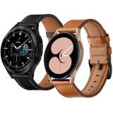2x Curea de piele 20mm ceas Samsung Galaxy Watch Active 2 40mm 44mm Watch 3 41mm