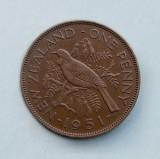 NOUA ZEELANDA - 1 Penny 1951 - George VI, Australia si Oceania, Bronz