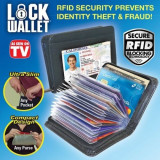 Portofel cu protectie pentru carduri RFID