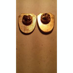 2 insigne agentia nationala a padurilor una placata cu aur 24k