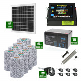 Pachet Gard electric 6,6j putere cu Panou Solar si 8000m de fir 120Kg