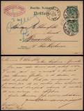 Germany Reich 1891 Old postcard Uprated stationery Frankfurt to Brussels DB.070