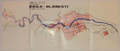 Harta veche Baile Olanesti, Judetul valcea, anii 70 foto