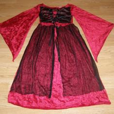 costum carnaval serbare rochie medievala contesa pentru copii de 8-9 ani