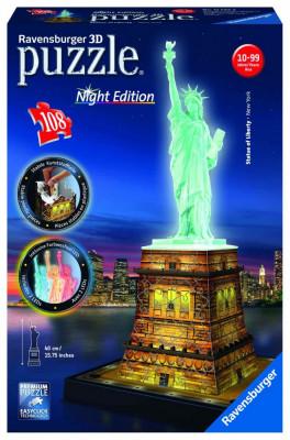Puzzle 3D Luminos Statuia Libertatii, 108 Piese foto