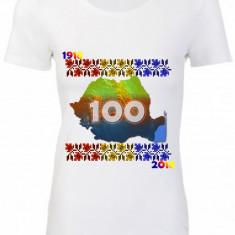 "TRICOU DAMA PERSONALIZAT BUMBAC 100% ""CENTENAR ROMANIA"""