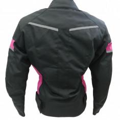 Geaca Textil Dama cu protectii , Culoare Negru/Roz , marimea S Cod Produs: MX_NEW MX6532