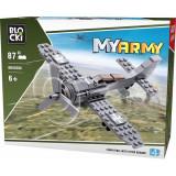 Joc constructie Blocki, Avion militar cu elice, 87 piese