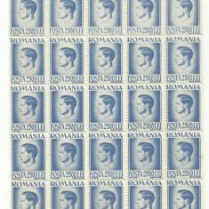 ROMANIA MNH 1945 - Uzuale Mihai I - fragment coala 2500 L - 25 timbre