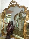 oglinda antica,rama lemn,Italia, 1,3m inaltime, 1,1m lungime