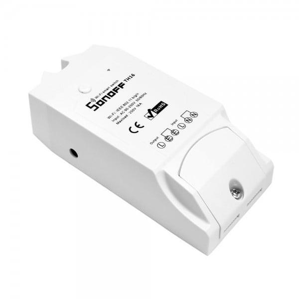 Releu pentru temperatura si umiditate 16A Sonoff TH16 alb SafetyGuard Surveillance