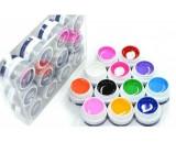 Set pentru unghii false de 12 geluri UV colorate