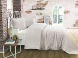 Cuvertură de pat Valentini Bianco din brocard, model Style Lavander