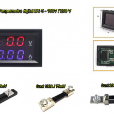 Voltmetru ampermetru voltampermetru de panou 0-100V 0-50A /100A