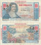 1947 , 10 francs ( P-32 ) - Guadelupa