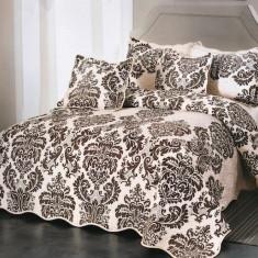 Cuvertura de pat + 4 Fete de Perna - Pat 2 Persoane - 100% Bumbac - E-S18
