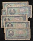 ROMANIA - LOT 6  BANCNOTE 100 LEI 1966, UZATE