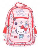 Ghiozdan Hello Kitty, clasele 1-4, forma ergonomica, separator interior