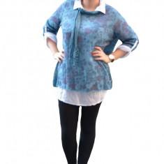 Bluza de marime universala, multicolora, pentru toamna-iarna