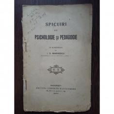 Spicuiri din PSICHOLOGIE si PEDAGOGIE - I.G. Marinescu